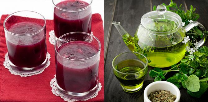 Фруктовый кисель, зеленый чай