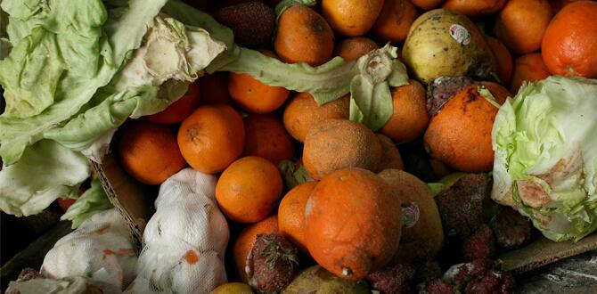 Испорченные овощи, фрукты