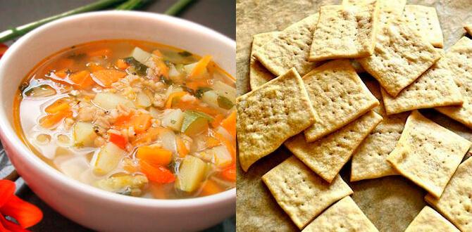 Суп с овсянкой, галеты