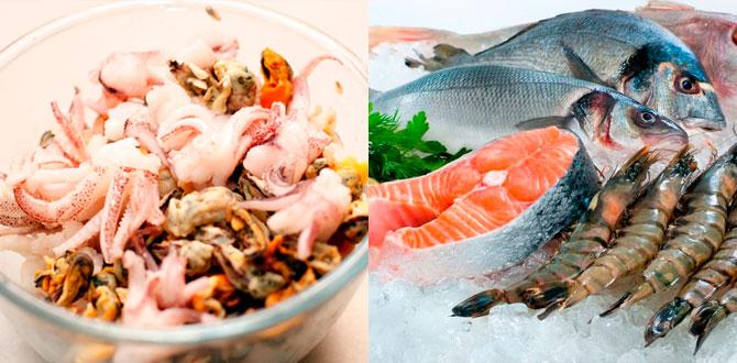 Морепродукты, рыба