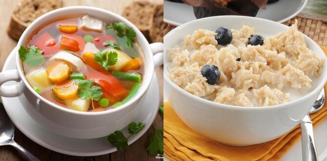 Овощной суп, каша на воде