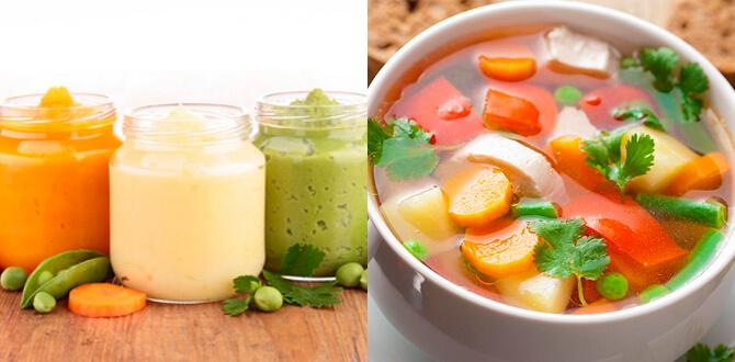 Пюре из овощец, диетический суп