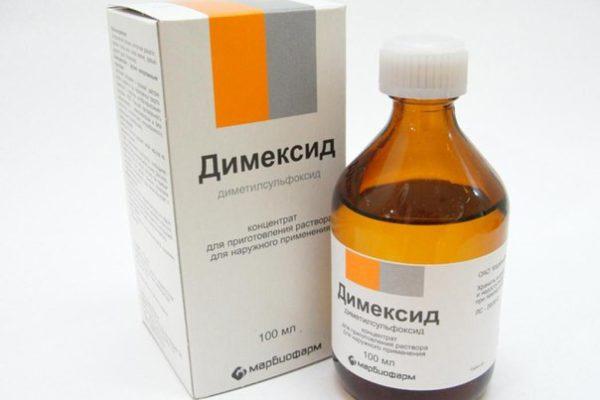 Лечебные свойства димексида при лечении пяточной шпоры