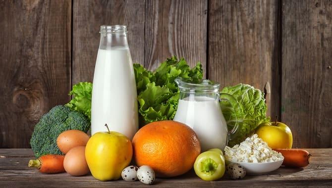 Овощи и кисломолочные продукты