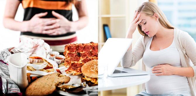 Переедание, стресс при беременности