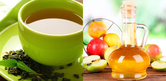 Зеленый чай, яблочный уксус