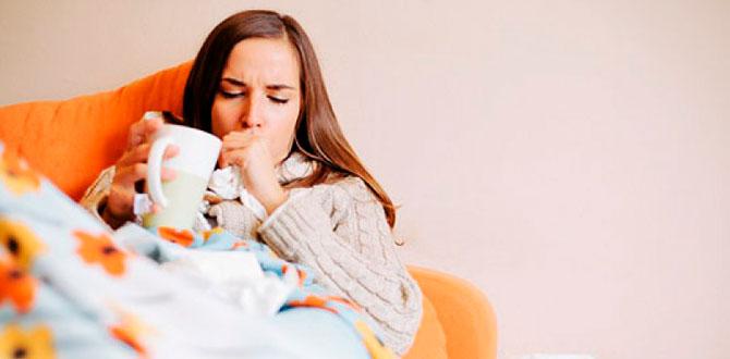 Беременная девушка лежит в постели, болеет