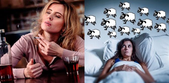 Женский алкоголь и курение, бессоница
